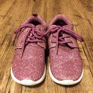Girls US Sports purple glitz sneakers